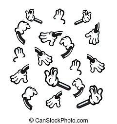 vector illustration of cartoon hand