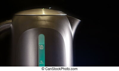 electric kettle, measured mark water level red color - a...