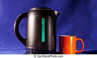 electric kettle, measured mark water level red color -...