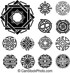 Set of Miscellaneous Knot Dingbats - Set of Knot Dingbats...