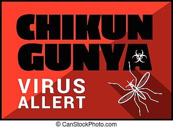 Chikungunya virus allert vector outline