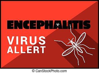 Encephalitis virus allert vector outline