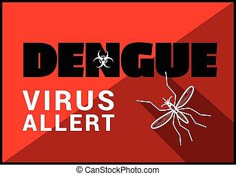 Dengue virus allert vector outline