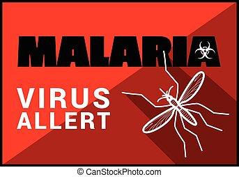 malaria virus allert vector outline