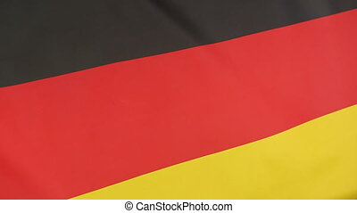 Closeup of national flag of Germany
