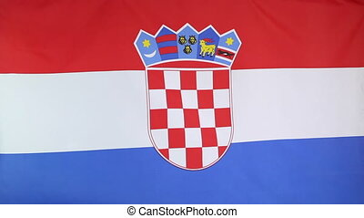 Fabric national flag of Croatia