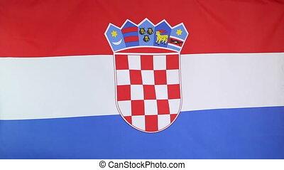 Fabric national flag of Croatia