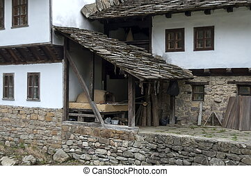 Old house with brick oven - Old traditional houses with room...