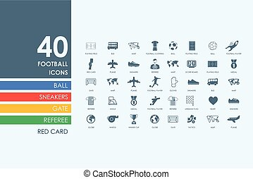 Set of football icons - football vector set of modern simple...