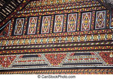Traditional wood pattern from Indonesia