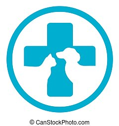 round veterinary medicine sign - blue round veterinary...