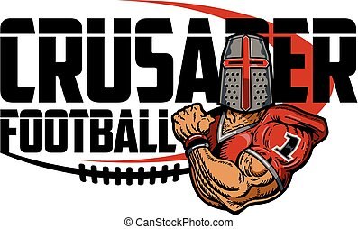 crusader football - muscular crusader football player design...