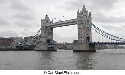 Tower Bridge London - Timelapse video of Tower Bridge at...