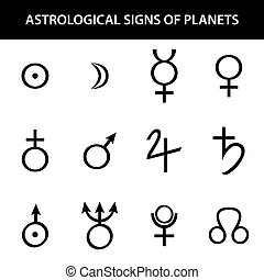 Astrology signs of planets.