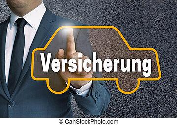 versicherung (in germn insurance) car touchscreen is...