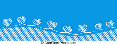 abstract bavaria template - garland made of hearts with...