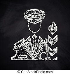 customs inspector icon