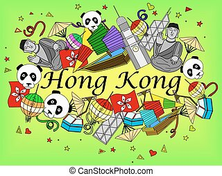 Hong Kong vector illustration