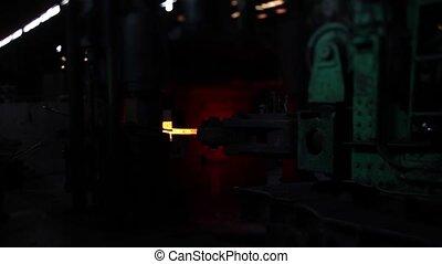machine blacksmith under working process