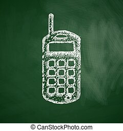 old mobile phone icon