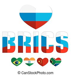 Flag of the BRICS countries color web icon - Flags of the...