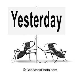 yesterday - Yesterday passed day or past time