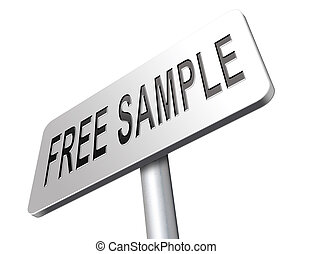 free product sample - Free product sample offer or gratis...