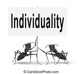 individuality - Individuality stand out from crowd and being...