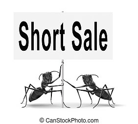short sale road sign