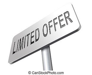 limited offer edition or stock webshop icon or web shop sign...