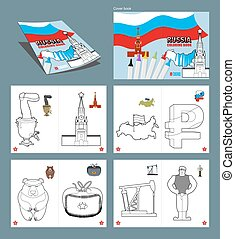 Russia coloring book Patriotic sign for coloring National...