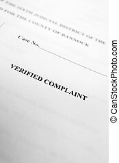 Legal Papers Verified Complaint - Detail of legal papers...