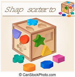 Shape sorter toy Cartoon vector illustration Series of...