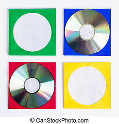 CD DVD CD - CDs DVDs isolated on white background,...
