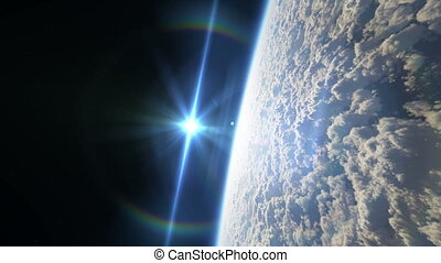 fly over planet