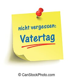 Yellow Stick Red Pin Vatertag