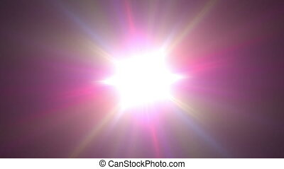 abstract star pulsing