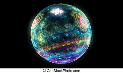 spirit ball planet abstract