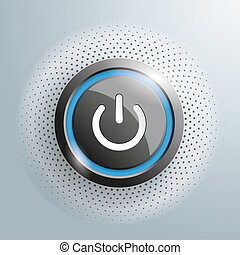 Power Button Halftone - Power button with halftone on the...