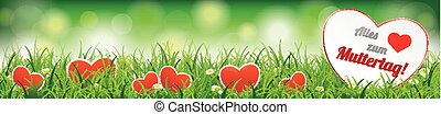 Spring Background Header Muttertag SH - German text Alles...