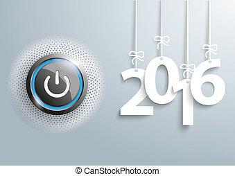 Power Button Halftone Gray Copyspace 2016 - Power button...