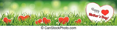 Spring Background Header Happy Mothersday SH - Green header...