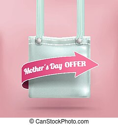 Purse Bag Pink Background Mothersday Offer - Shopping bag...