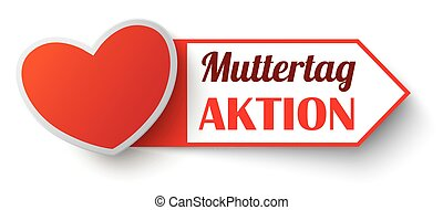 "Red Marker Muttertag Aktion SH - German text ""Muttertag..."