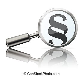 Loupe Mirror Paragraph - Loupe with paragraph on the white...