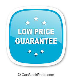 low price guarantee blue glossy web icon - low price...