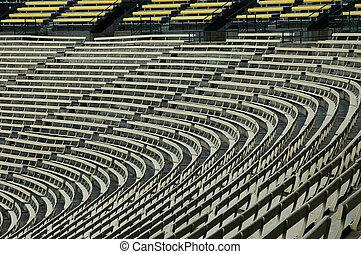 Empty stadium.