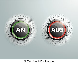 "2 Buttons An Aus - German text ""An Aus"", translate ""On Off""."