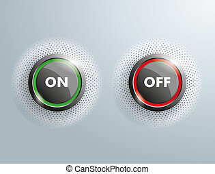 2 Buttons Business On OFF Halftone - 2 On Off buttons on the...