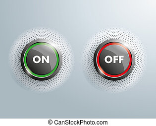 2 Buttons On Off SH - 2 On Off buttons on the gray...